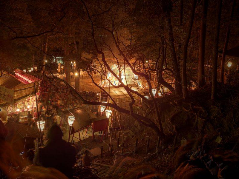 yoshida shrine setsubun bonfire