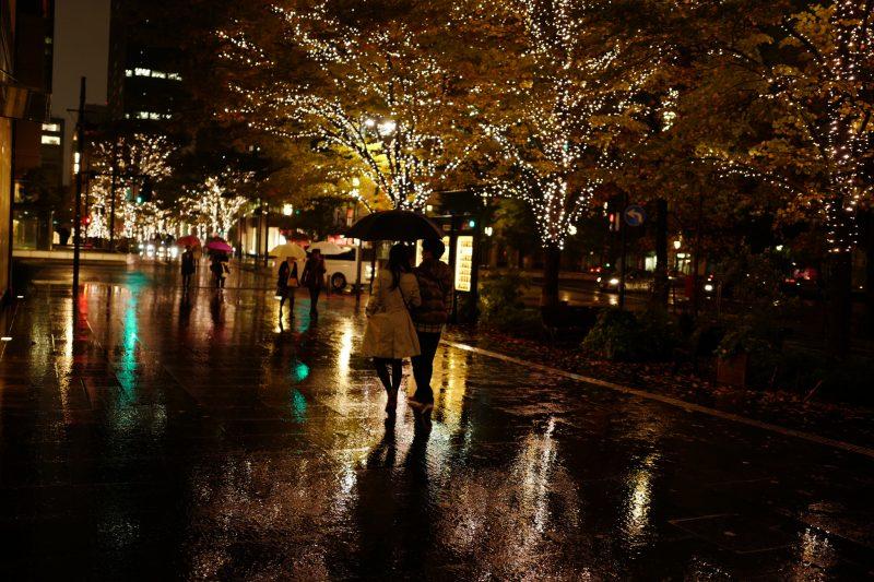 rainy japan