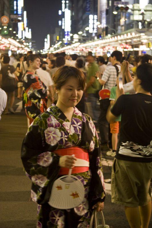 gion matsuri yukata girl
