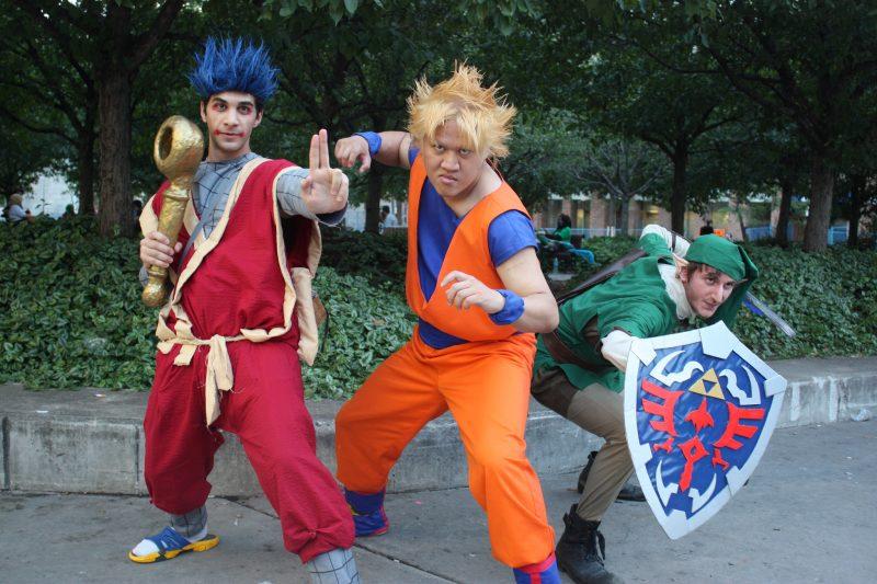 Goemon, Goku and Link