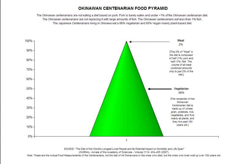 Okinawa diet pyramid
