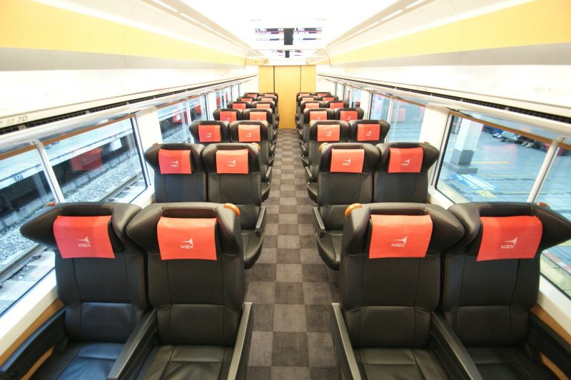 The interior of green car