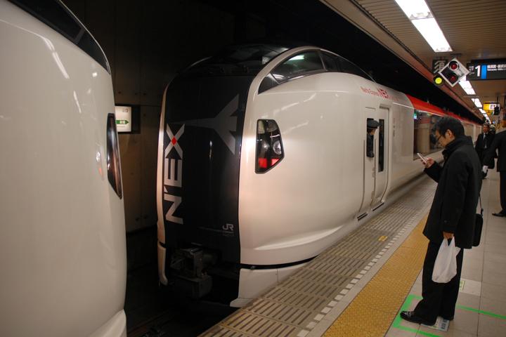 Narita Express at Tokyo station