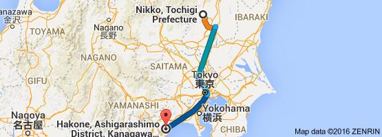 Go Hakone from Nikko