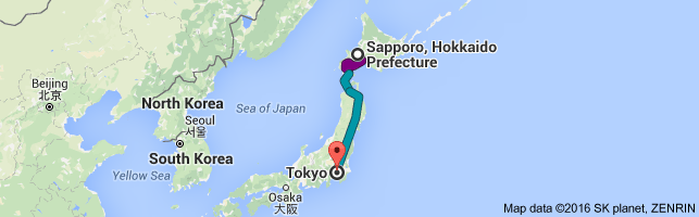 Go Tokyo from Sapporo