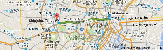 Go Shinjuku from Akihabara