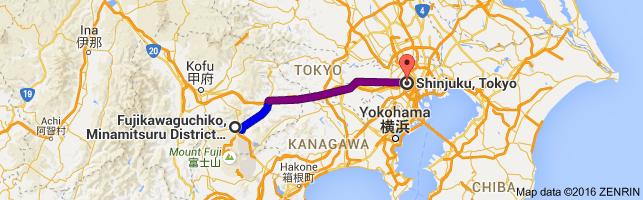 Go Shinjuku from Kawaguchiko