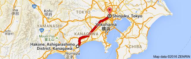 Go Shinjuku from Hakone