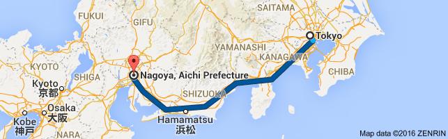 Go Nagoya from Tokyo