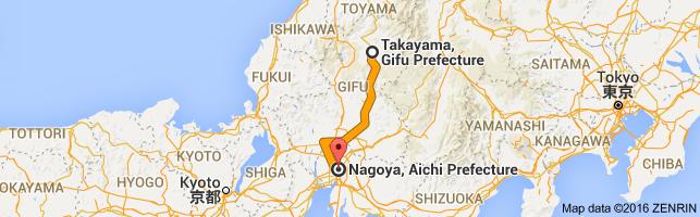 Go Nagoya from Takayama