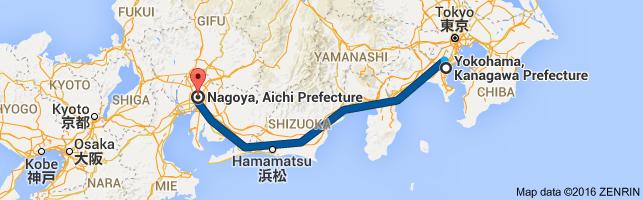 Go Nagoya from Yokohama