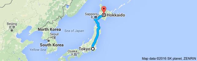 Go Hokkaido from Tokyo