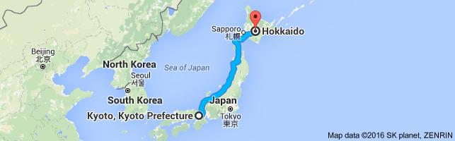 Go Hokkaido from Kyoto