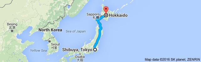 Go Hokkaido from Shibuya