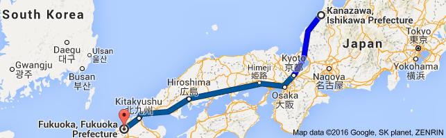 Go Fukuoka from Kanazawa