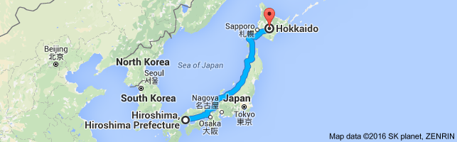 Go Hokkaido from Hiroshima