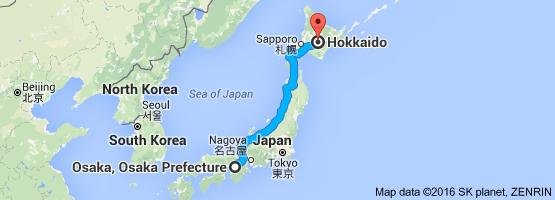 Go Hokkaido from Osaka