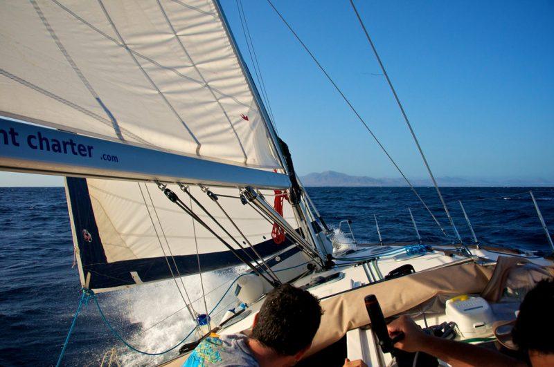 Sailing in Adeje in Poker Chip Carter