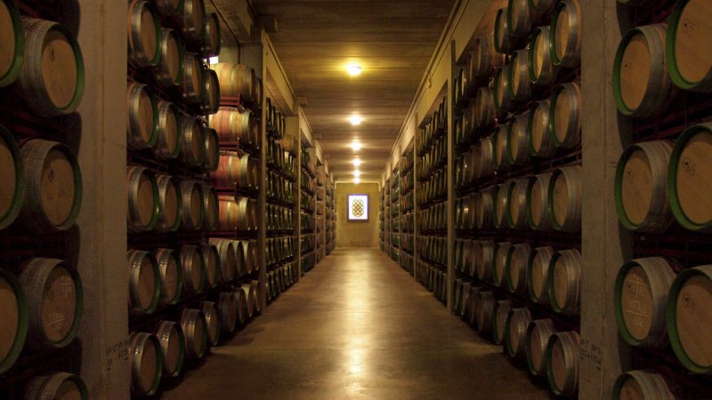 Cellar at Marques de Riscal winery