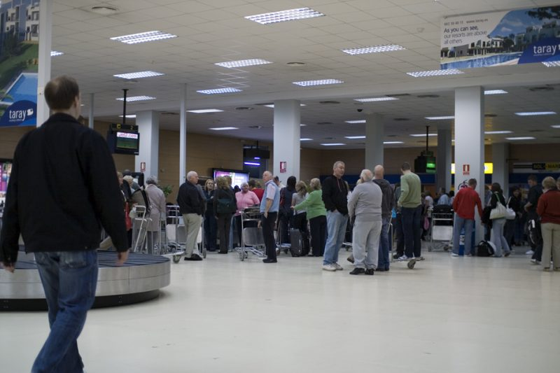 Inside of Murcia Airport