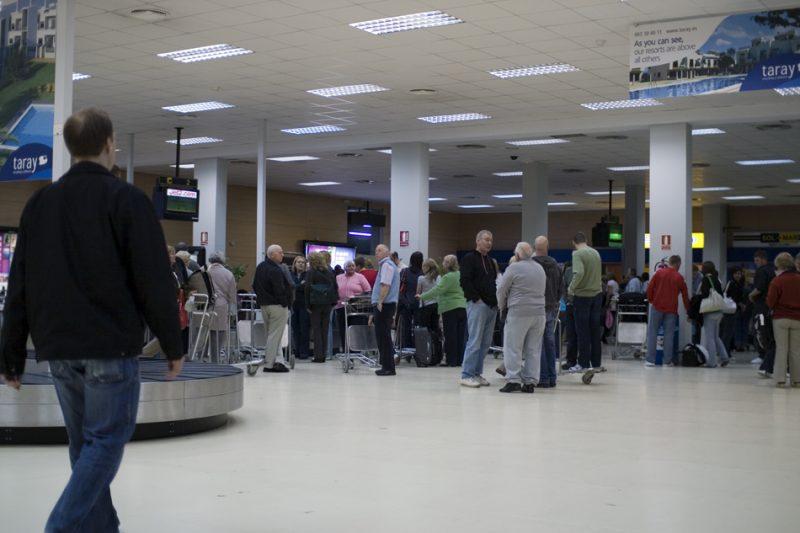 Inside of Murcia Airport