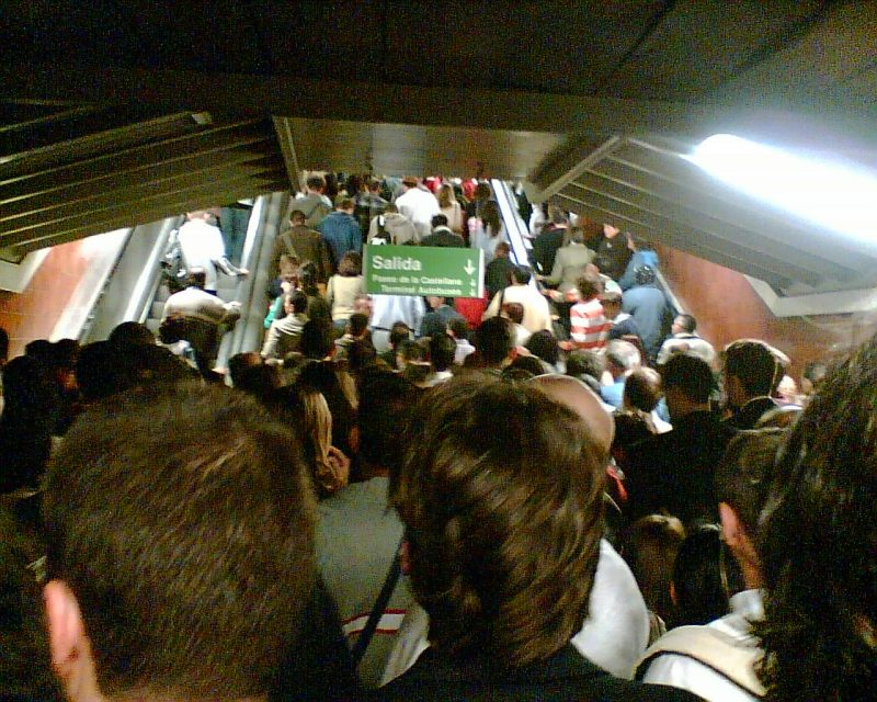 Madrid Metro Crowded