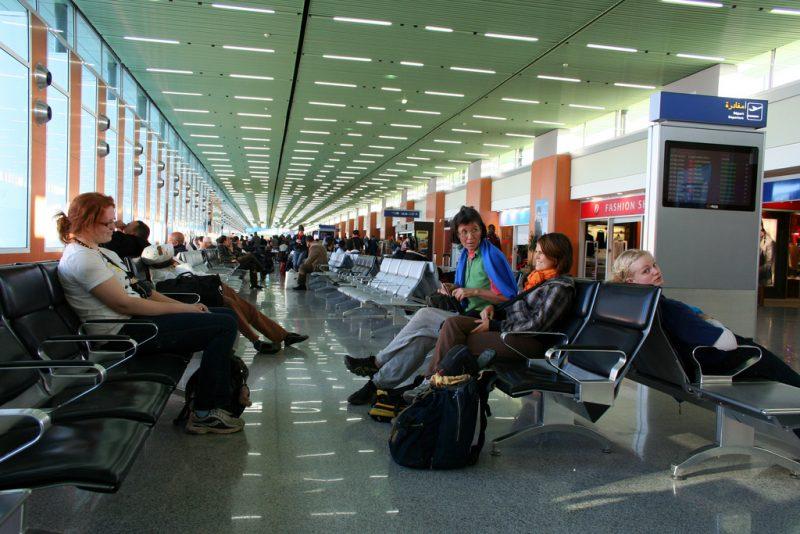 Inside Mohammed V Airport