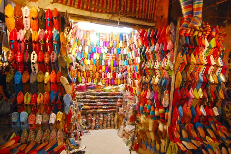 A Stall in Marrakech Souk