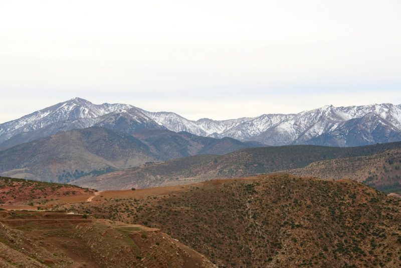 Photo taken near the Atlas Mountain Range, Morocco