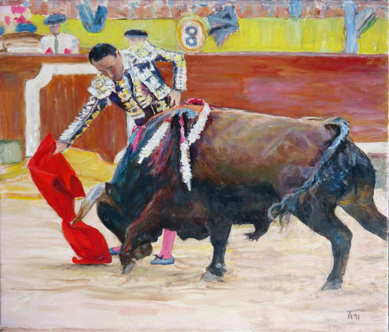Pepin_Liria_in_bullring_oilpainting_52x60cm'11