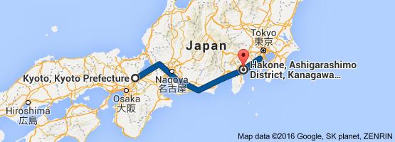 distance hiroshima kyoto
